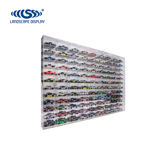 Clear acrylic wall stand rack/acrylic car model display shelf