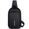 2019 Trendy Nylon Men's Waterproof Sling Bag Messenger Bags Chest Back Pack with Clip Lock