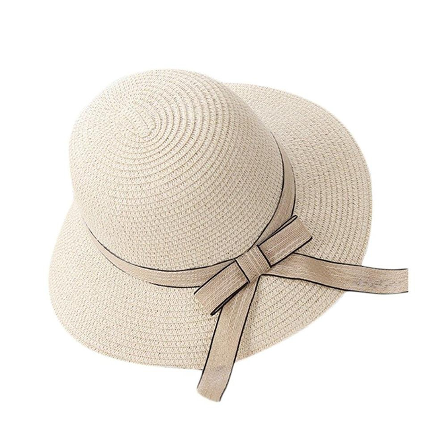 d47561c5 Get Quotations · Aabigale beautiful NEW Summer Autumn Vacation Travel  All-Match Women Straw Hat Fisherman Hat Outdoor