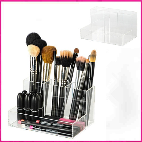 customized design clear acrylic makeup brush holder buy acrylic makeup brush holder acrylic. Black Bedroom Furniture Sets. Home Design Ideas
