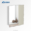 YA MEI TE High glossy stainless steel storage cabinet bathroom mirror cabinet on wall 7027