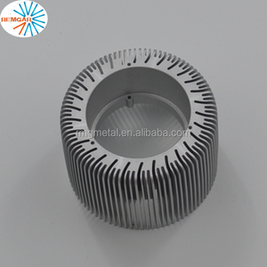 extrusion aluminum hollow round led light heat sink