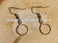 Small earrings in copper beautiful and fashionable