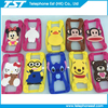 universal cartoon silicone mobile phone case,suitable for small than 6 inch smart cellphone case