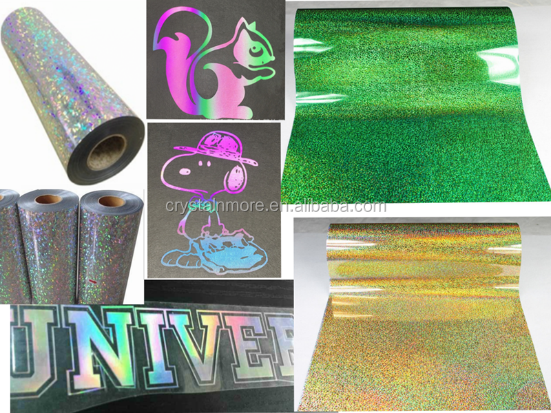 Pink Hologram Vinyl Heat Transfer Film For Cutting