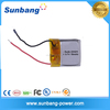 3.7V 15mAh Small Rechargeable Polymer lithium Battery