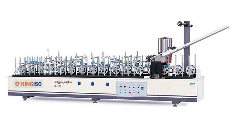 Hot Melt Glue BF300B-II Veneer High Matching Profile Wrapping Machine for Panel Furniture