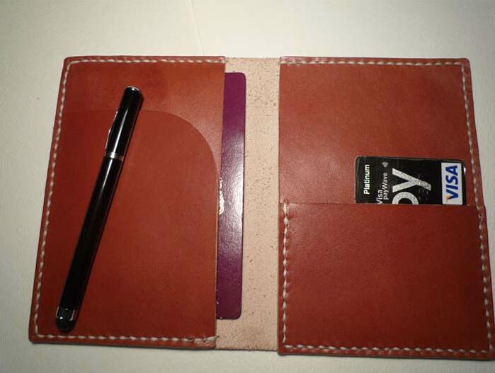 Anti Rfid Men Genuine Leather Travel Organizer Passport Holder ...