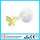 Butterfly Gold Plated Bioplast Tragus Piercing Earring Stud