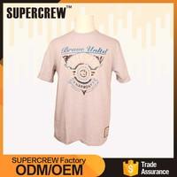 Wholesale Price Famous Brand Cartoon Design Boyfriend Vintage 70% Polyester 30% Cotton Fabric T-Shirt