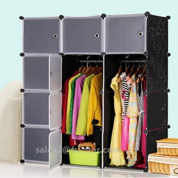 Pn Plastic Wardrobe Shelf Bedroom Storage Units Storage Cloth Boxes