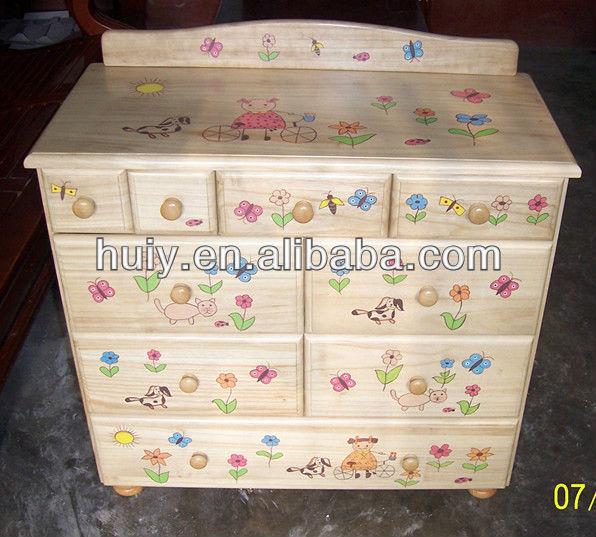Madera Pintada Niños Muebles Para El Dormitorio - Buy Product on ...