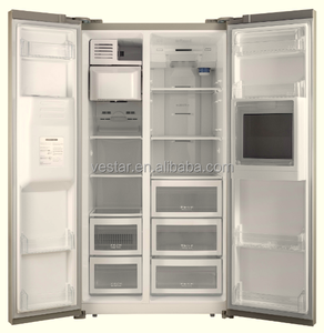 2017 new double door fridges for beverage refrigerator household with CE certificate