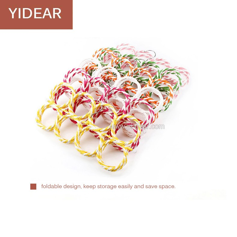 Wholesale 28 ring colorful paper rattan scarf hangers (color sent randomly)