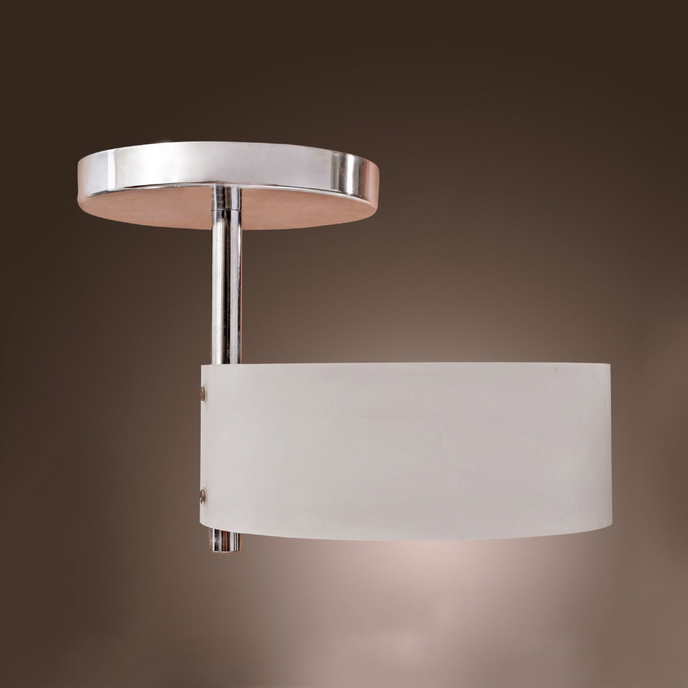 White modern led ceiling light flush mount lights polish - Flush mount bathroom ceiling lights ...