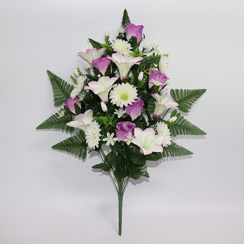 White And Purple Color New Single Lily Rose And Lucky Chrysanthemum