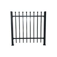 Metal fence wrought iron zinc steel fence panels