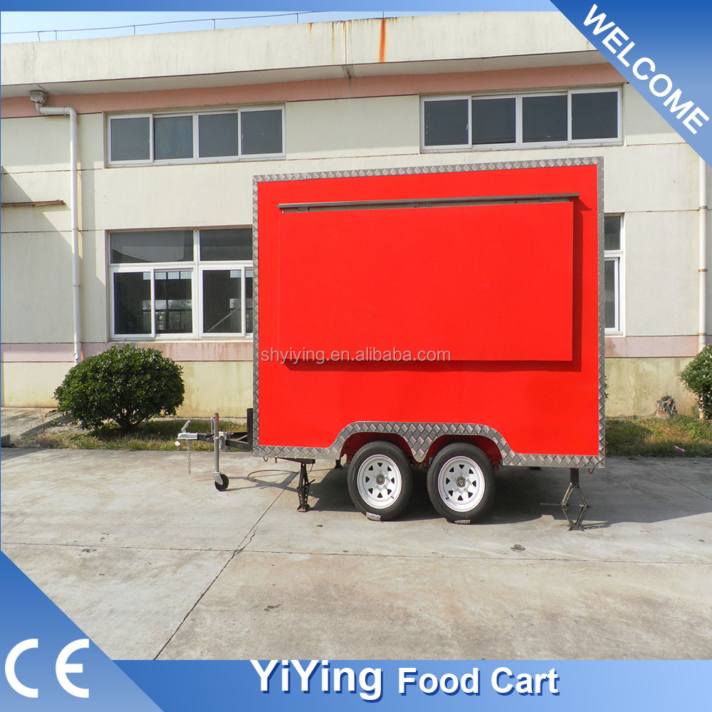 FS400C Yiying factory made brand new mobil kitchen island street food vegetable cart