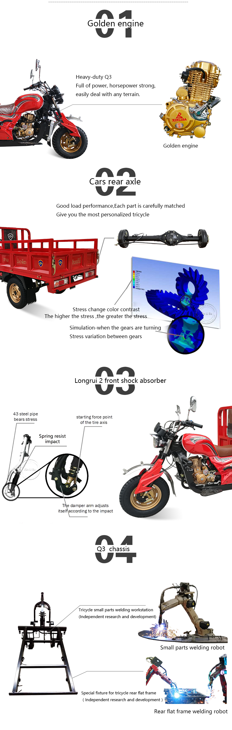Top quality cheapest cargo motor loader tricycle