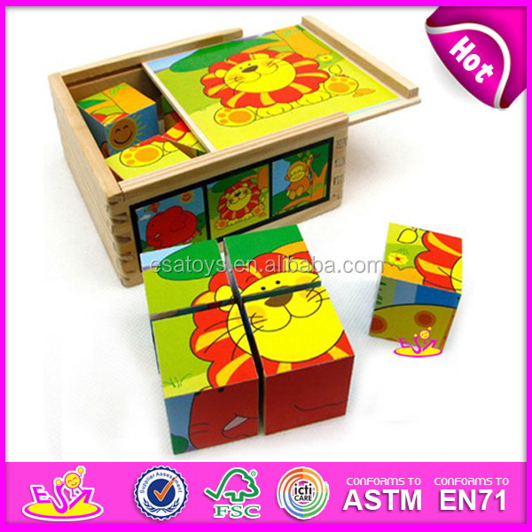 2015 New Kids Wooden Cube Puzzle,Popular Children Cube Puzzle And ...