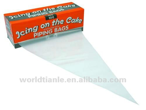 disposable cake decorating bag with triangle shape