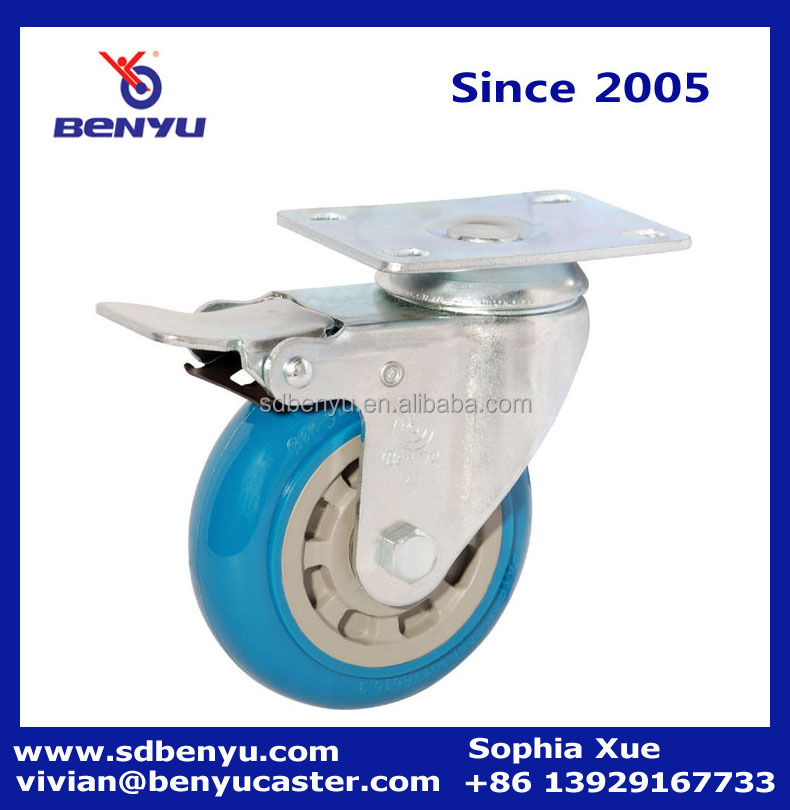100mm quality instrument carts locking caster wheel