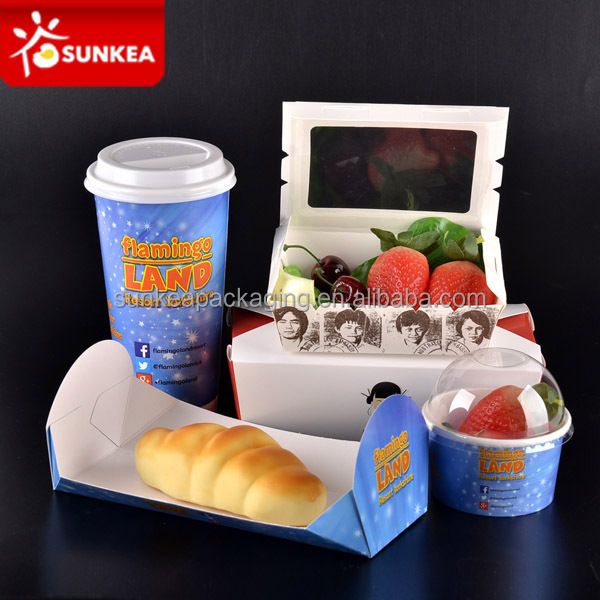 Custom Fast Food Paper Packaging / Burger And Sandwich