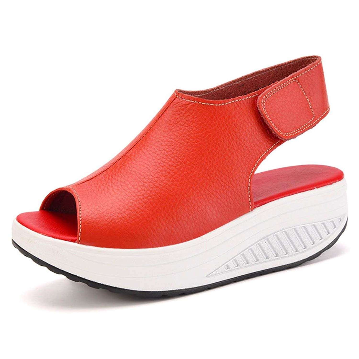 Women Casual Creepers Fashion Peep Toe Platform Shoes Women Flats Summer Breathable Creepers Heels Female Casual Shoes