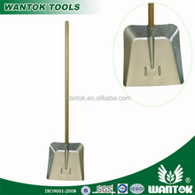 Aluminium hovel with long ash wooden handle /long fiberglass handle / long hard handle