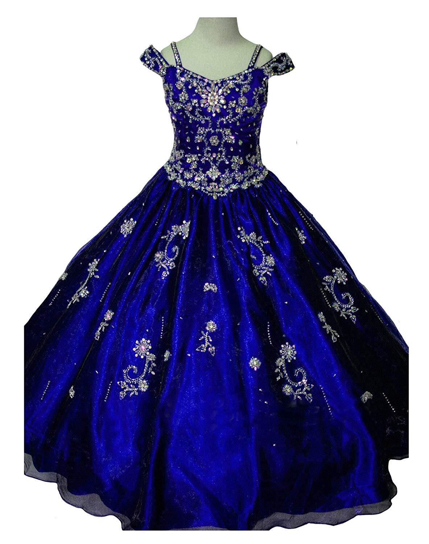 0456c74949da Get Quotations · YongGao Teen's Gorgouse Princess Dress A Line Spaghetti  Party Pageant Dresses
