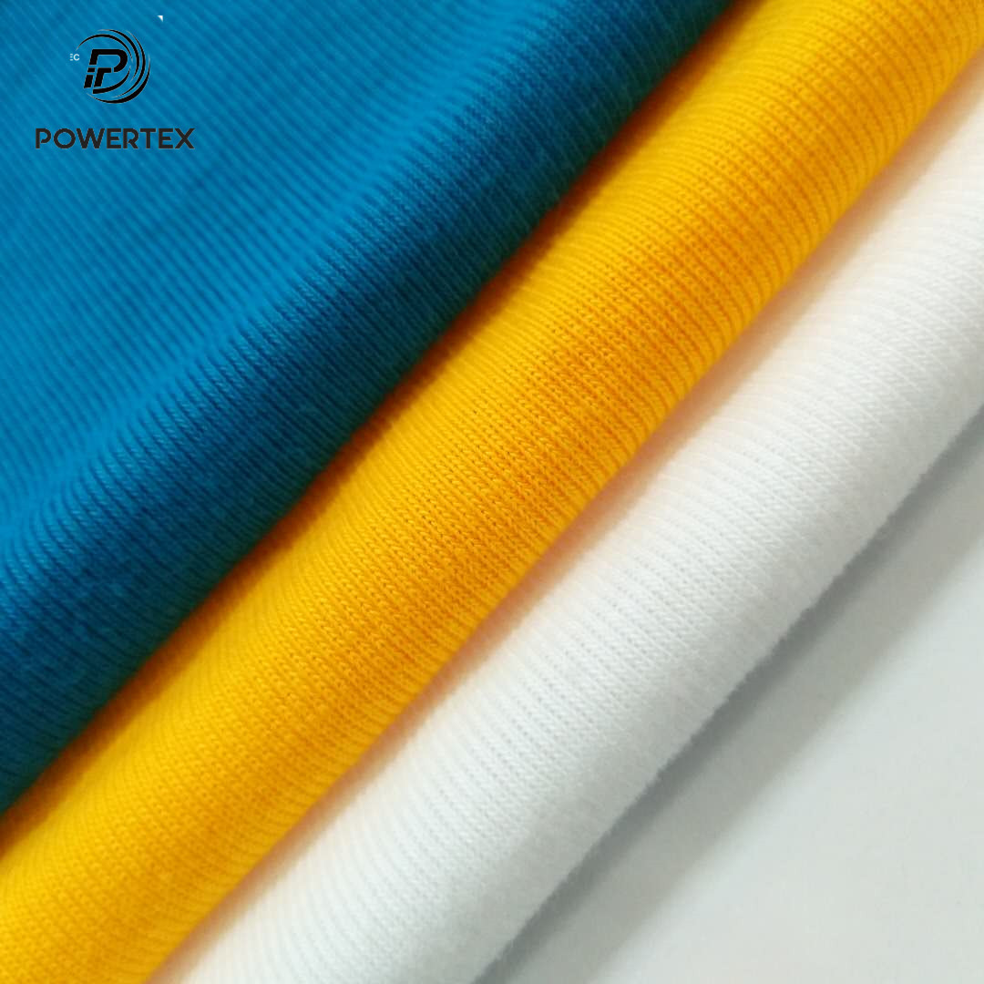 100 Cotton 1x1 Knitted Polyester Spandex Tubular T Shirt Collar