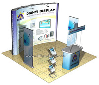 3x3 10feet expo magnetic pop up trade show display exhibition portable booths design