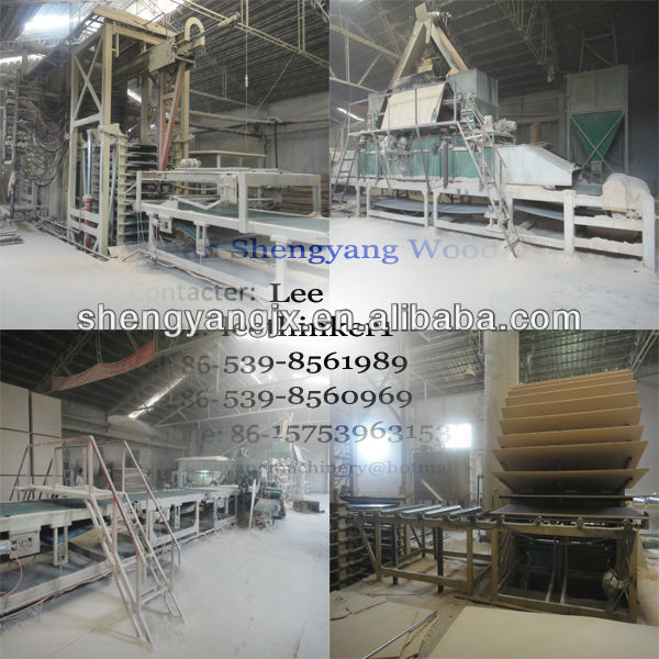 Full automatic particle board production line/PB line/woodwoking lines/particle board plant production line