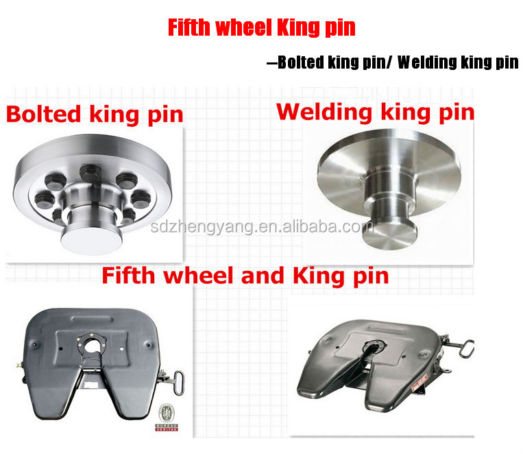 Fifth Wheel King Pin : Container port trailer hitch cast fifth wheel plate spare