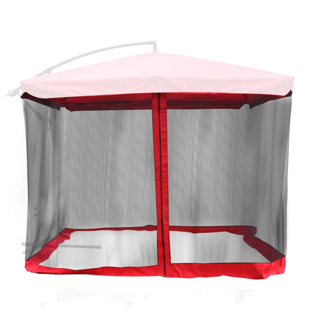 Get Quotations Offset Umbrella Mosquito Net 9 X Outdoor Patio Red Table Screen Netting Mesh