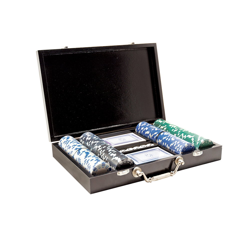 2 in1 dadi poker chips set, chip box, ganbling prodotti