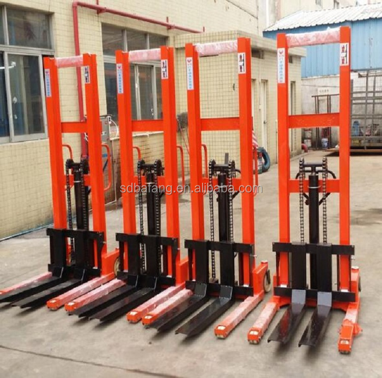 1T 2T 3T Manufacturer manual stacker forklift hydraulic pallet stacker price