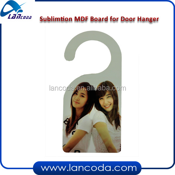 Sublimation door hanger