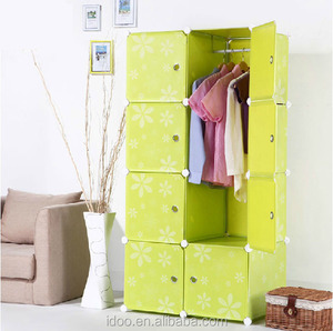Many color avaible garden storage units 8 cubes mobile moving storage containers FH-AL0028-8