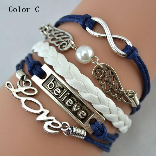 2017 mode anchor charm bracelet en cuir yiwu bracelet id. Black Bedroom Furniture Sets. Home Design Ideas