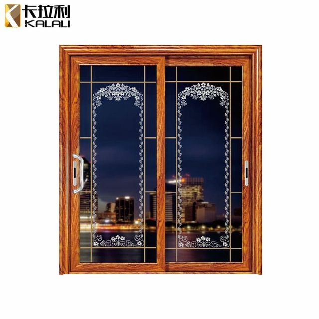 High Quality Double Sliding Doors Door Panel Glazed Glass With Best Service