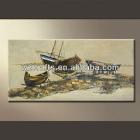 3D relief oil painting for caribbean battle ship ocean