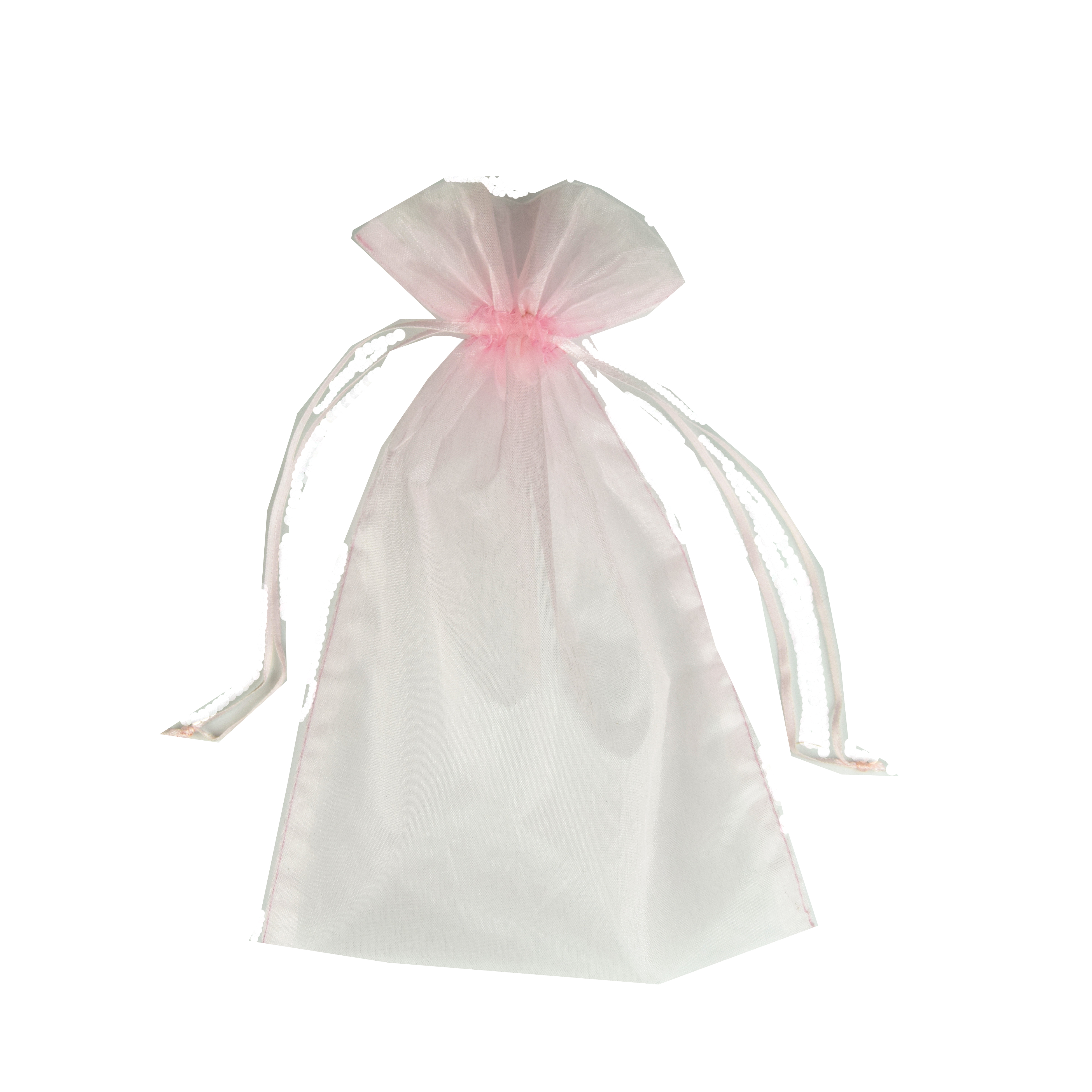 30x40cm light pink purple seed drawstring organza pouch bag