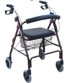 NEW Cardinal Health Rollator Rolling Medical Walker with Storage and Soft Seat