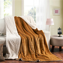Sedex polyester velvet china factory wholesale blue solid warm soft blanketsleeping partner fleece blanket mink blanket