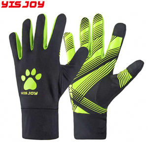 Customize Sports Padded Football Gloves Keeper Gloves Youth Adults Soccer Glove Black &Green
