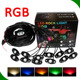 Auto lighting low voltage 4/6/8/12 light kit music dance waterproof led rock light with bluetooth controler