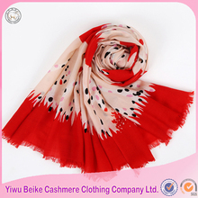 2017 New spring factory directly sale custom printed scarves for wholesale