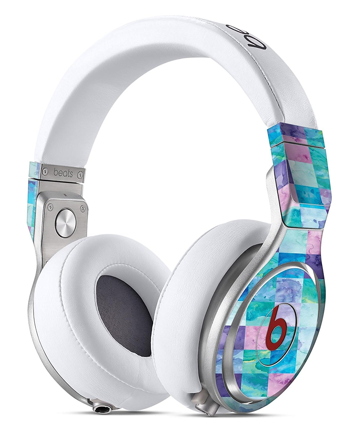 Blue Pink and Purple Watercolor Patchwork DesignSkinz Full-Body Skin Kit for the Beats by Dre Pro Headphones / Ultra-Thin / Matte Finished / Protective Skin Wrap