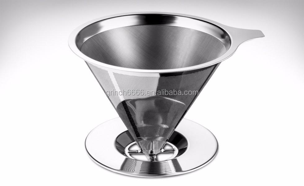Kaffeefilter Edelstahl papierlose gießen über kaffeetropf edelstahl wiederverwendbare
